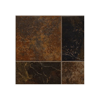Tarkett Fiber Floors Lifetime - Indiana Flagstone Rust 38051