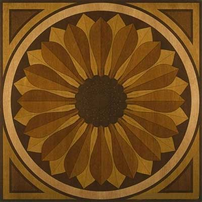 Appalachian Hardwood Floors Sunflower Medallion Sunflower Medallion AP-MM40.5S