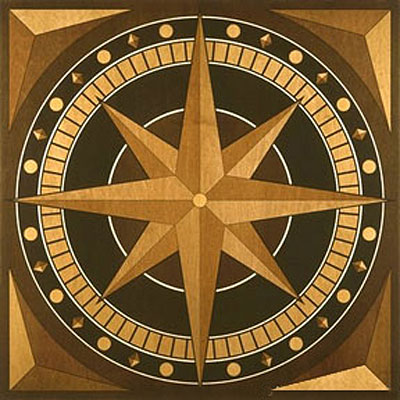 Appalachian Hardwood Floors Compass Rose Medallion Compass Rose AP-MM40.5CR