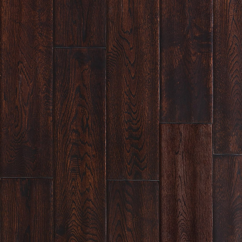 Ark Floors Artistic Distressed Solid 4 3/4 Oak Tobacco ARK-D02S01A05
