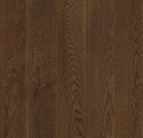 Armstrong Prime Harvest Solid Oak 2 1/4 Low Gloss Cocoa Bean