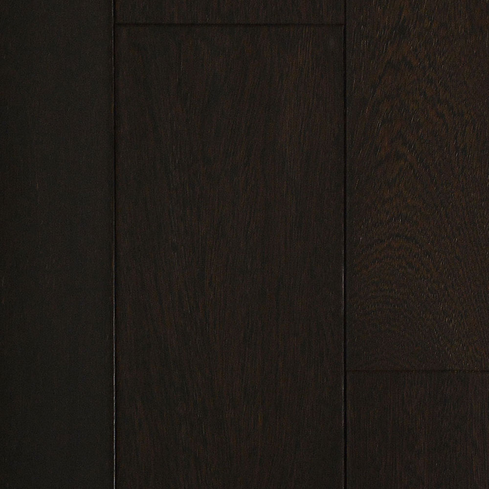 IndusParquet Solid Handscraped 5 1/2 Brazilian Angelim Ebony (Black) - High Sheen IPPFHSSA512