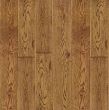 Cherokee Select Solid Oak Rustic Handcraped 3 1/2 Golden Saddle Ginger