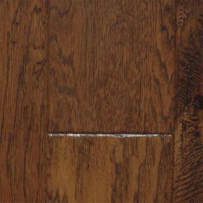 Max Windsor Floors Outback Handscraped Collection 6 Saddle Brown Hickory TLELY1106