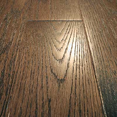 Mullican Frontier Wire Brushed Solid 4 Oak Tuscan Brown 13662