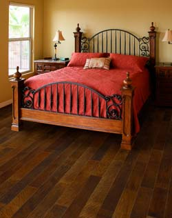 Plan & design a bedroom with hardwood flooring