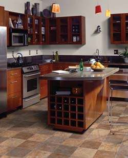 Plan & design a kitchen floor using vinyl