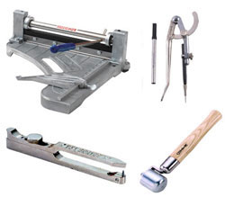 Tools for installing a vinyl floor
