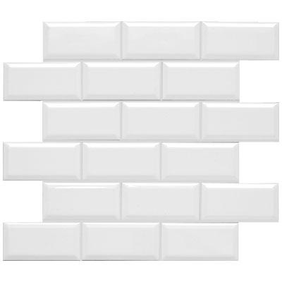 Adex Usa Neri 2 X 4 Mosaic Beveled White