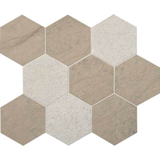 American Olean Stone Ascend Hexagon Mosaic 4 Gray Virtue