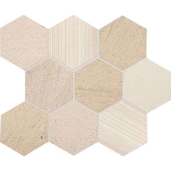 American Olean Stone Ascend Hexagon Mosaic 4 Honest Greige