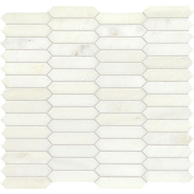 American Olean Candora Linear Hex Mosaic Vestal White