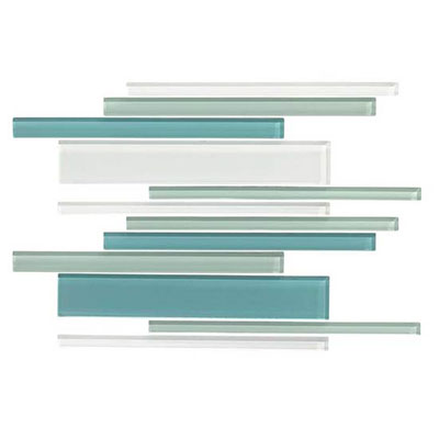 American Olean Color Appeal Glass Blends Mosaic 12 x 16 Sea Pearl