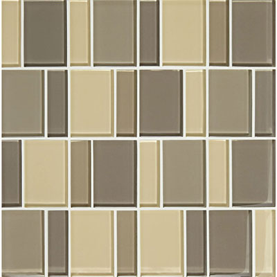 American Olean Color Appeal Renewal Block Random Glass Mosaic Sand Storm