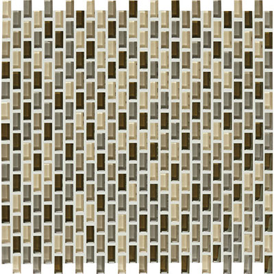 American Olean Color Appeal Renewal Chain Link Glass Mosaic Pecan Grove