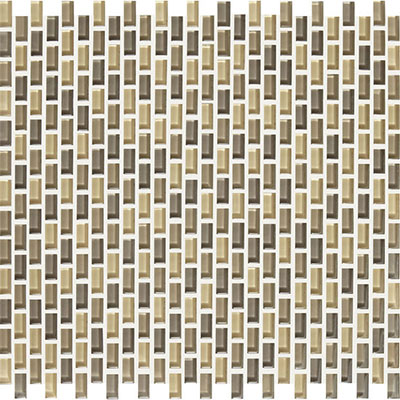 American Olean Color Appeal Renewal Chain Link Glass Mosaic Sand Storm
