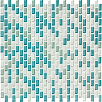 American Olean Color Appeal Renewal Chain Link Glass Mosaic Sea Pearl