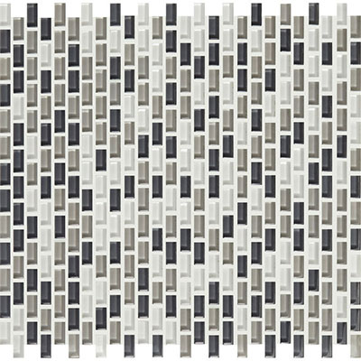 American Olean Color Appeal Renewal Chain Link Glass Mosaic Silver Spring