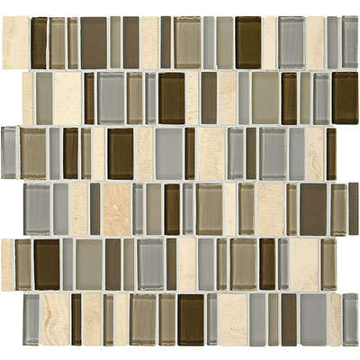 American Olean Jubiliance Entourage Marble and Glass Mosaic Bliss