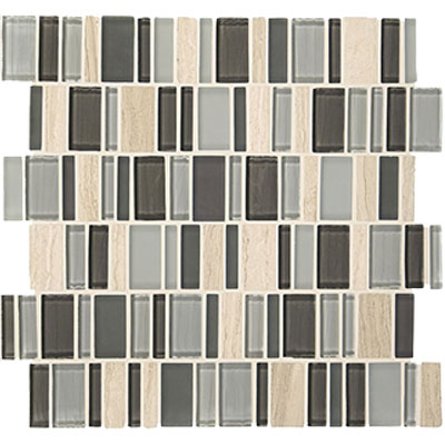 American Olean Jubiliance Entourage Marble and Glass Mosaic Elation