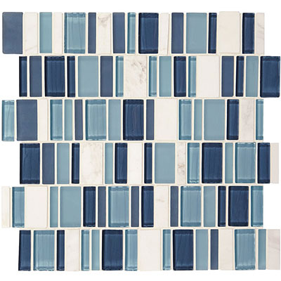 American Olean Jubiliance Entourage Marble and Glass Mosaic Esprit