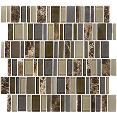 American Olean Jubiliance Entourage Marble and Glass Mosaic Glee