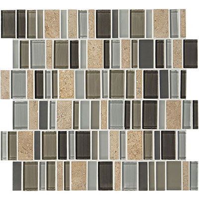 American Olean Jubiliance Entourage Marble and Glass Mosaic Triumph