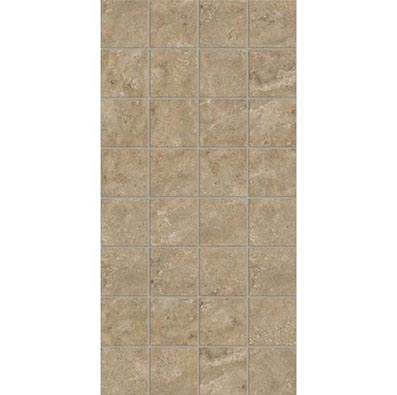 American Olean Stone Claire 3 x 3 Mosaic 12 x 24 Sheet Russet Mosaic