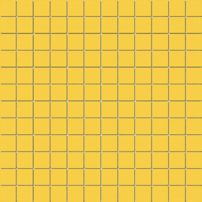 American Olean Unglazed Porcelain Mosaics Clearface 1 x 1 Lemon Drop