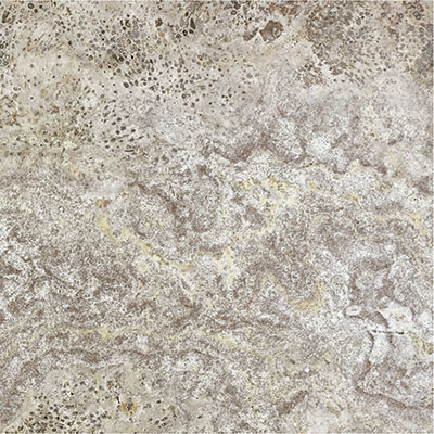 Anatolia Tile & Stone Travertine Honed 12 x 12 Silver Ash