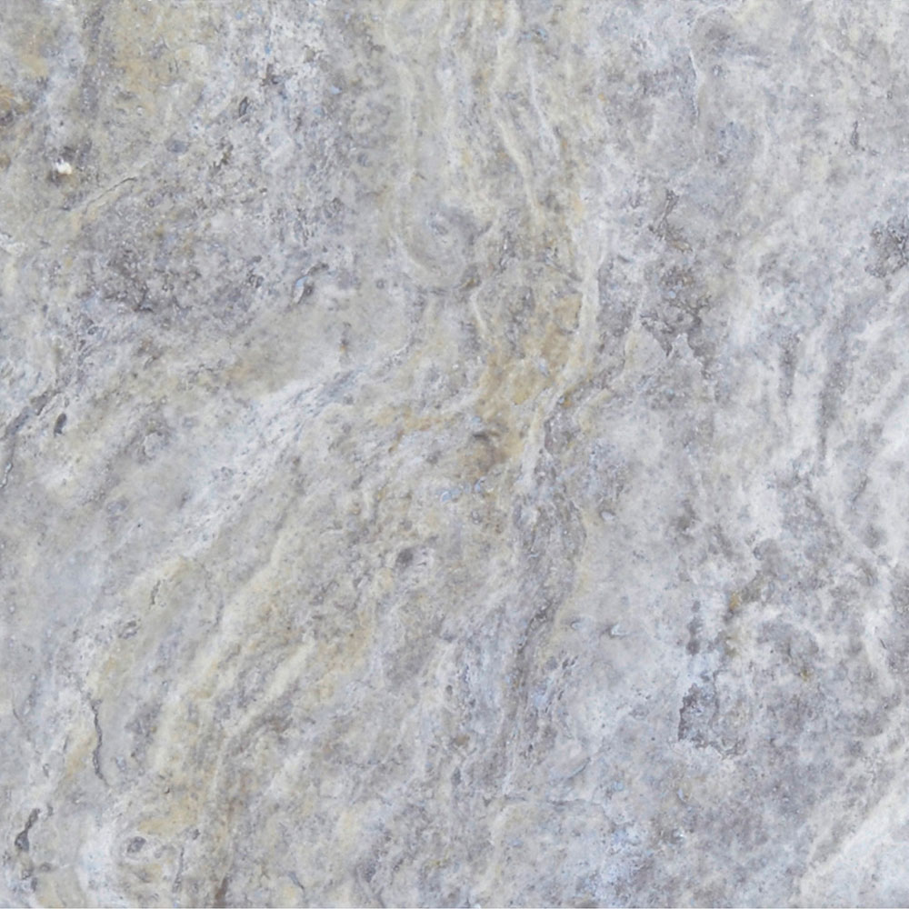 Atlantic Stone Source Travertine 18 x 18 Honed Filled Silver