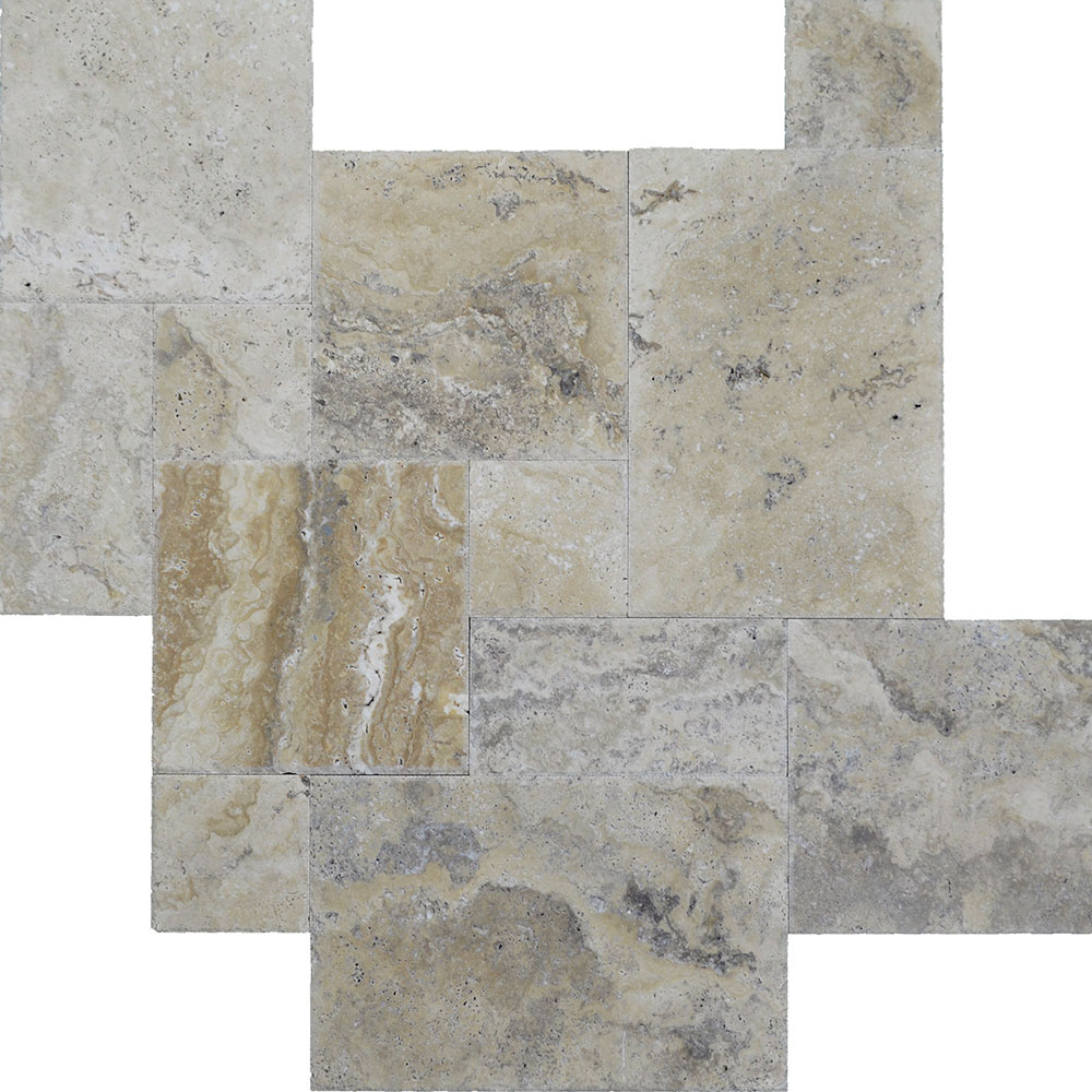 Atlantic Stone Source Travertine French Pattern Brushed and Chiseled Philadelphia