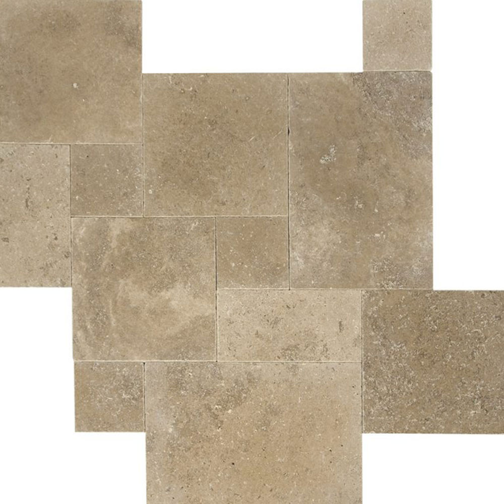 Atlantic Stone Source Travertine French Pattern Tumbled Noce