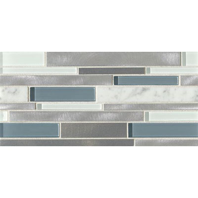 Bedrosians Montane Large Linear Stone Glass Metal Blend Cathedral