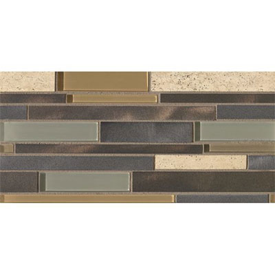 Bedrosians Montane Large Linear Stone Glass Metal Blend Highland