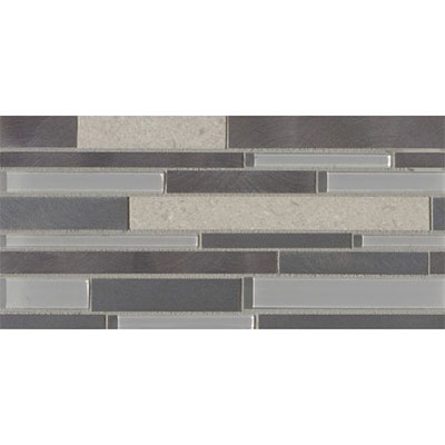Bedrosians Montane Large Linear Stone Glass Metal Blend Rocky