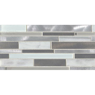 Bedrosians Montane Large Linear Stone Glass Metal Blend Silver Queen