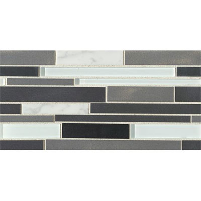 Bedrosians Montane Large Linear Stone Glass Metal Blend Snow