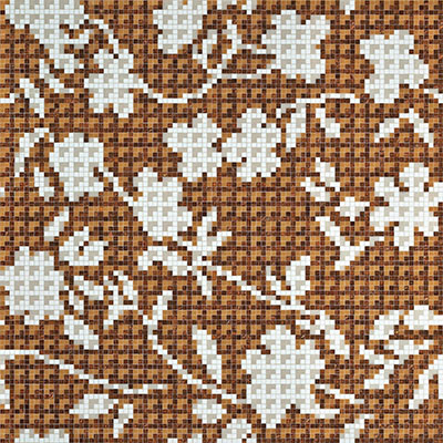 Bisazza Mosaico Decori 10 - Flower Corner Flower Corner Brown