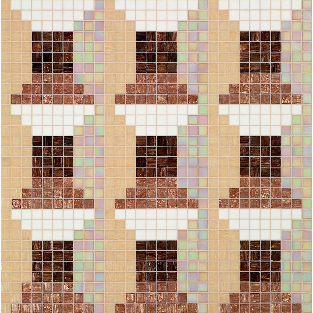 Bisazza Mosaico Decori 20 - Windows Windows Brown