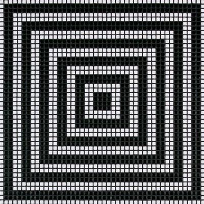 Bisazza Mosaico Decori Opus Romano Wenge Nero