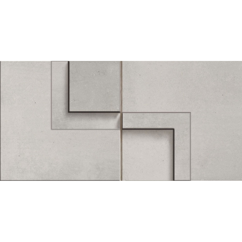 Cerdomus Chrome Mosaic 3D 5 x 10 Grey