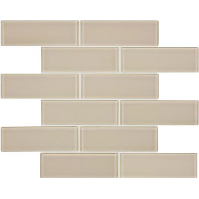 Chesapeake Flooring Essentials Glass Mosaic Brick 2 x 6 Element Earth