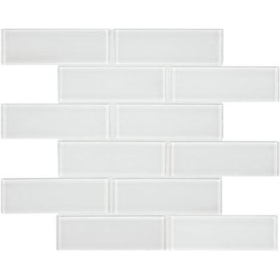 Chesapeake Flooring Essentials Glass Mosaic Brick 2 x 6 Ice