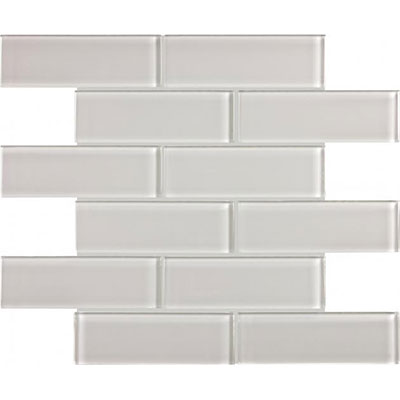 Chesapeake Flooring Essentials Glass Mosaic Brick 2 x 6 Mist