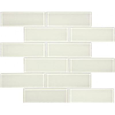 Chesapeake Flooring Essentials Glass Mosaic Brick 2 x 6 Sand