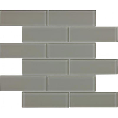 Chesapeake Flooring Essentials Glass Mosaic Brick 2 x 6 Smoke