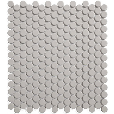Chesapeake Flooring Glazed Porcelain Penny Rounds Mosaics Grey Gloss
