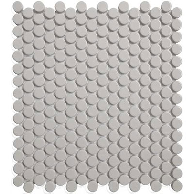 Chesapeake Flooring Glazed Porcelain Penny Rounds Mosaics Grey Matte