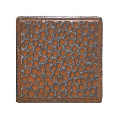Daltile Castle Metals 2 x 2 Dot Wrought Iron Hammered Dot